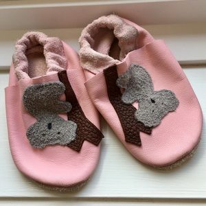 Hand-crafted Soft Leather Baby Shoes | Pink Koala